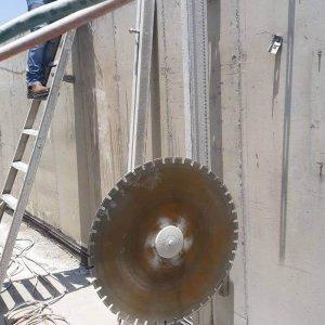ניסור קיר בטון קל-בטון