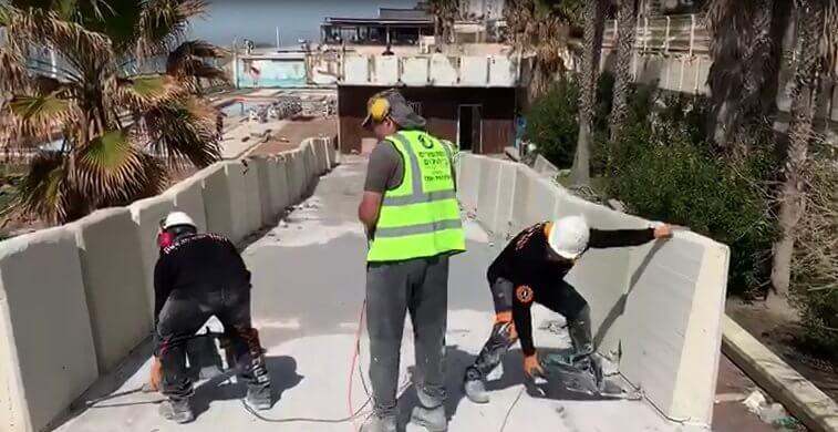 ניסור בטון בירושלים, קידוח יהלום של קל בטון